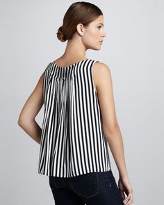 Arleigh Pleat-Back Top by Alice + Olivia at Neiman Marcus.