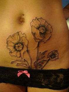 flower outline tattoo on arm - Google Search