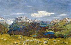 Titre de l'image : Giovanni Giacometti - Vue du Muottas Muragl'sur le Oberengadin