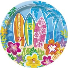 Hula Beach Party | Hawaiian | Luau 17cm Cake | Dessert Paper Party Plates 1-48pk in Home, Furniture & DIY, Celebrations & Occasions, Party Supplies | eBay