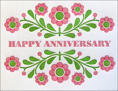 Beautiful Greeting Anniversary Card Couple