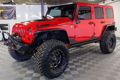 Beautiful Red Wrangler