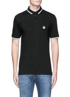 DOLCE & GABBANA Crown Embroidery Polo Shirt. #dolcegabbana #cloth #shirt