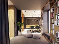 Family friendly home packed with modern decor ideas & home design features for different rooms. Find storage ideas, new furniture styles and colour combinations Furniture Styles, New Furniture, Futuristisches Design, Interior Design, Bat Mat, Lounge, Skyfall, Contemporary Interior, Modern Decor