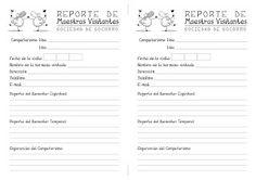 para imprimir, reporte de las Maestras Vivitantes.
