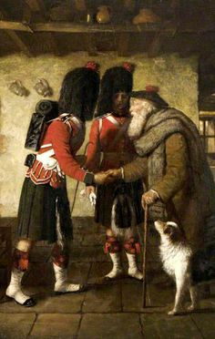 The Highlanders' Farewell by Scottish Painter Hugh Cameron (1835-1918)