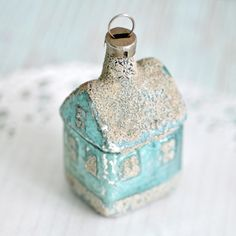 Pretty pastel vintage house Christmas ornament❣ Torie Jayne • Flickr