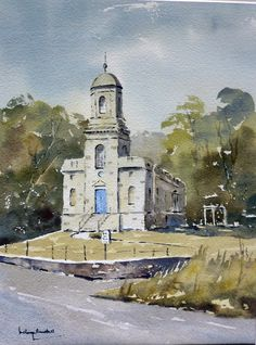 https://flic.kr/p/gi5rU8 | st nicholas church, watercolor by Melvyn Randall