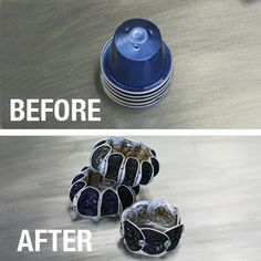 Bracelets out of Nespresso coffee capsules