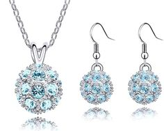 'Austrian Crystal Ball Necklace/Earrings Set' is going up for auction at  1pm Mon, Nov 26 with a starting bid of $10.
