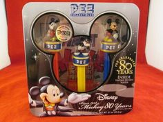 PEZ Collectibles Dispensers Disney Mickey 80 Years with Vintage Mickey Poster