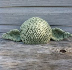 Yoda inspired crochet hat- all sizes. $17.00, via Etsy.  @Gracie Willis  look at this lol
