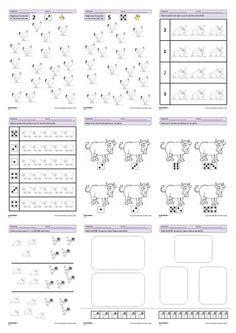 27 fiches d'exercices mathématiques pour la maternelle (PS - MS - GS) autour de la thématique de la ferme. Des exercices de numération, de discrimination visuelles et de partage.