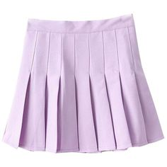Yasong Women Girls Short High Waist Pleated Skater Tennis Skirt School... ($12) ❤ liked on Polyvore featuring skirts
