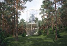 """Aibek Almasov """"Tree in the house"""", un rifugio spirituale nella foresta"""