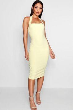 3c8d61827de4 Jacqueline Halter Strap Midi Dress Dress Clothes For Women, Latest Dress,  Dress Collection,