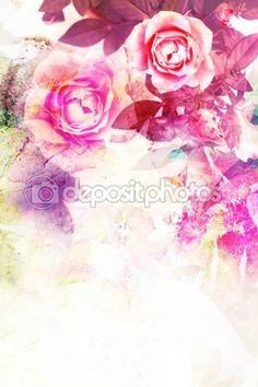 Romantic pink roses background — Stock Photo © Julietart #29323405