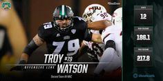 TROY WATSON, 2016 Second Team All-Mid-American Conference.