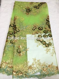 wholesale fashion green french lace/fabric lace for garment