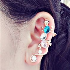 Chic Style Lizard Crystal Ear Cuff for Women from EricDresses on less price. Use coupon and promotional codes.