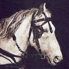 Work Horse, Oil on Canvas, 30cm by 30cm, (2011) by Marc Alexander