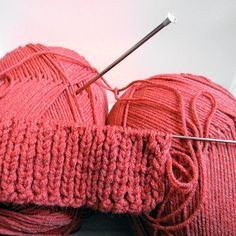 Make leg-warmers using only knit and purl stitches.