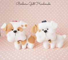 Barbara Handmade...: Dwa buldożki / Two bulldogs