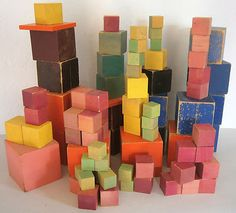 vintage eames mid century wood wooden toys crafts blocks architecture design