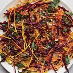 Carrot and Beet Slaw with Pistachios and Raisins Recipe