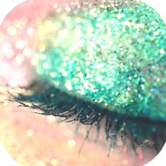 Sea foam green glitter