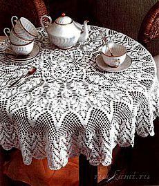 """Hermoso mantel sobre la mesa, """"Sitio & quot; Los mangos & quot;  - Hacer las cosas con sus manos"""