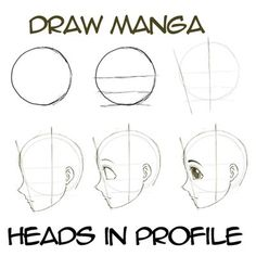 Step drawingmanga anime heads in profile How to Draw Anime & Manga Faces & Heads in Profile Side View: