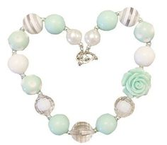 Chunky Necklace (Mint & White)