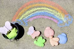 DIY Rainbow Sidewalk