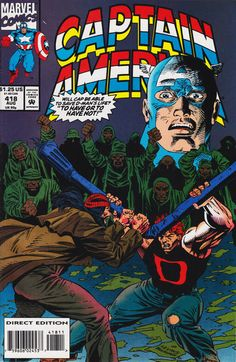 Cover for Captain America (Marvel, 1968 series) #418 [newsstand]