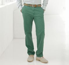 Green Chinos by Johnston & Murphy. Buy for $69 from Johnston & Murphy
