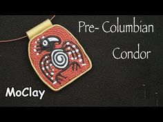 Diy  Pendant Pre- columbian Jewelry - Polymer clay tutorial - YouTube