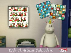 Let's start counting down to Christmas Found in TSR Category 'Sims 4 Painting and Poster Recolors' Sims 4, The Sims, Christmas Calendar, Christmas Poster, Kids Christmas, Sims Mods, Holiday Decor, Painting, Home Decor
