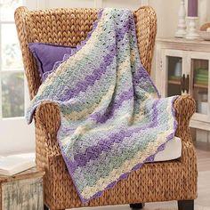 Macaroon Throw Crochet Afghan Kit