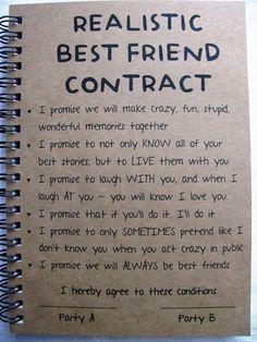 ReALiStiC Best Friend Contract – 5 x 7 journal – ReALiStiC Best Friend Vertrag – 5 x 7 Tagebuch – Related posts: ReALiStiC Best Friend Vertrag – 5 x 7 Tagebuch – … Bester Freund Vertrag – Tagebuch – Geschenke …