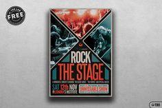 Se dette @Behance-projekt: \u201cFree Rock The Stage Flyer Template\u201d https://www.behance.net/gallery/50443321/Free-Rock-The-Stage-Flyer-Template