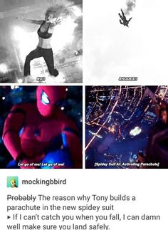 He couldn't let it happen again....Marvel. Tumbler. Iron Man. Tony Stark. Spider Man. Peter Parker.