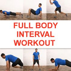Full Body Interval Workout This full-body workout, is gonna kick your butt into shape SO FAST! The post Full Body Interval Workout appeared first on Tallas. Fitness Workouts, Gym Workout Tips, Workout Videos, Fun Workouts, At Home Workouts, Food Workout, Boxing Workout, 8 Minute Workout, Full Body Workouts