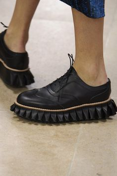 It's a brogue shoe, but not as we know it at @davidjulien #SS15 #PFW