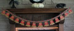 Vintage Merry Christmas Die Cut Banner Antique by willowpaige, $42.00