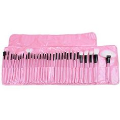 Tint 32 PCS Makeup Brush Set Cosmetic Pencil Lip Liner Make Up Kit Holder Bag Pink -- Continue to the product at the image link.