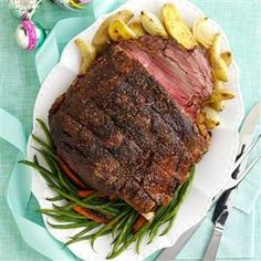 Standing Rib Roast Recipe -Treat your family to tender slices of standing rib roast or use the seasoning blend on a different beef roast for a hearty, delicious main dish. I love to prepare this recipe for special occasions. —Lucy Meyring, Walden, Colorado
