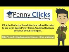 Penny Clicks Academy Review - https://www.youtube.com/watch?v=tSprlSkhaD0 - Penny Clicks Academy Bonus - Similarly, if your ezine is about a common market or provides information that reaches a wide variety of people, like news stories,   etc., then you might want to charge less per ad. This is done as the competition is too high in the field that you are and there are many ezine publications dealing with the same product as you are dealing. For that reason, you might want to start with…