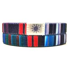 Colorful Stripes Wristband: This design has a variety of bright, vibrant, alternating colors. Buy one Today!