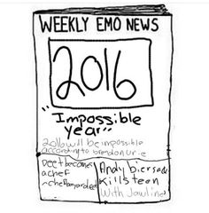 "This is quality<<""Andy Biersack kills teen with jawline""<<<""2016 will be impossible according to Brendon"" lol it nearly was"
